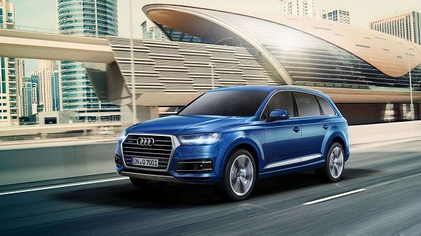 Der Audi Q 7 in Aktion